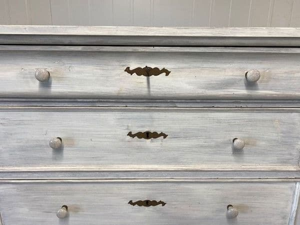 Painted Tall Antique Chest of Drawers - gf132